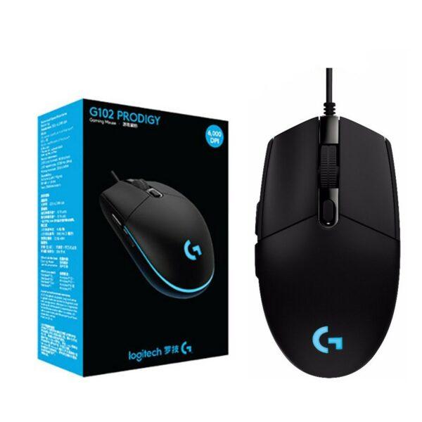 Logitech G102 Optical Gaming Mouse Prodigy 6000 DPI - Black