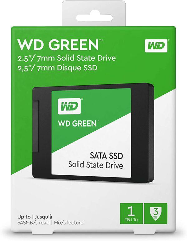 WD Green 1TB Internal PC SSD SATA III 6 Gb/s, 2.5″/7mm