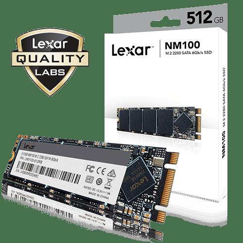 Lexar Internal 512GB SSD NM100 M.2 SATA III 2280