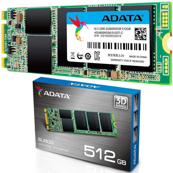 ADATA SSD 512GB Ultimate SU800 M.2 2280 3D NAND