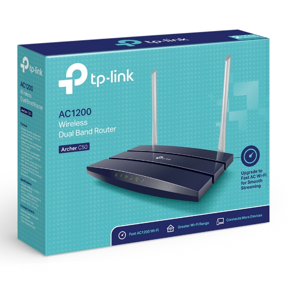 TP-Link Archer C50 AC1200 Wireless Router Dual Band