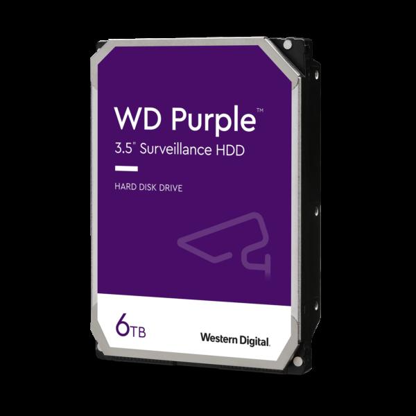 WD 6TB Surveillance Hard Drive 64MB, 5400rpm (Purple)